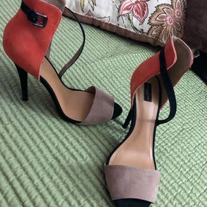 Zara color block heels!